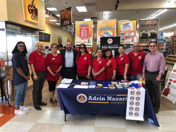 Assemblymember Adrin Nazarian participated in a Business Walk at the Seafood City Supermarket in Panorama City