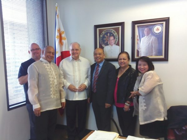 Courtesy Call to Consul General Leo Herrera Lim with Puerto Princesa Chamber of Commerce ED Bart Duff
