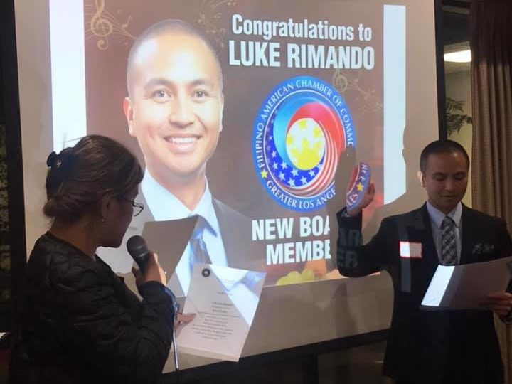 Let's give a warm welcome to our new Board Member, Luke Rimando